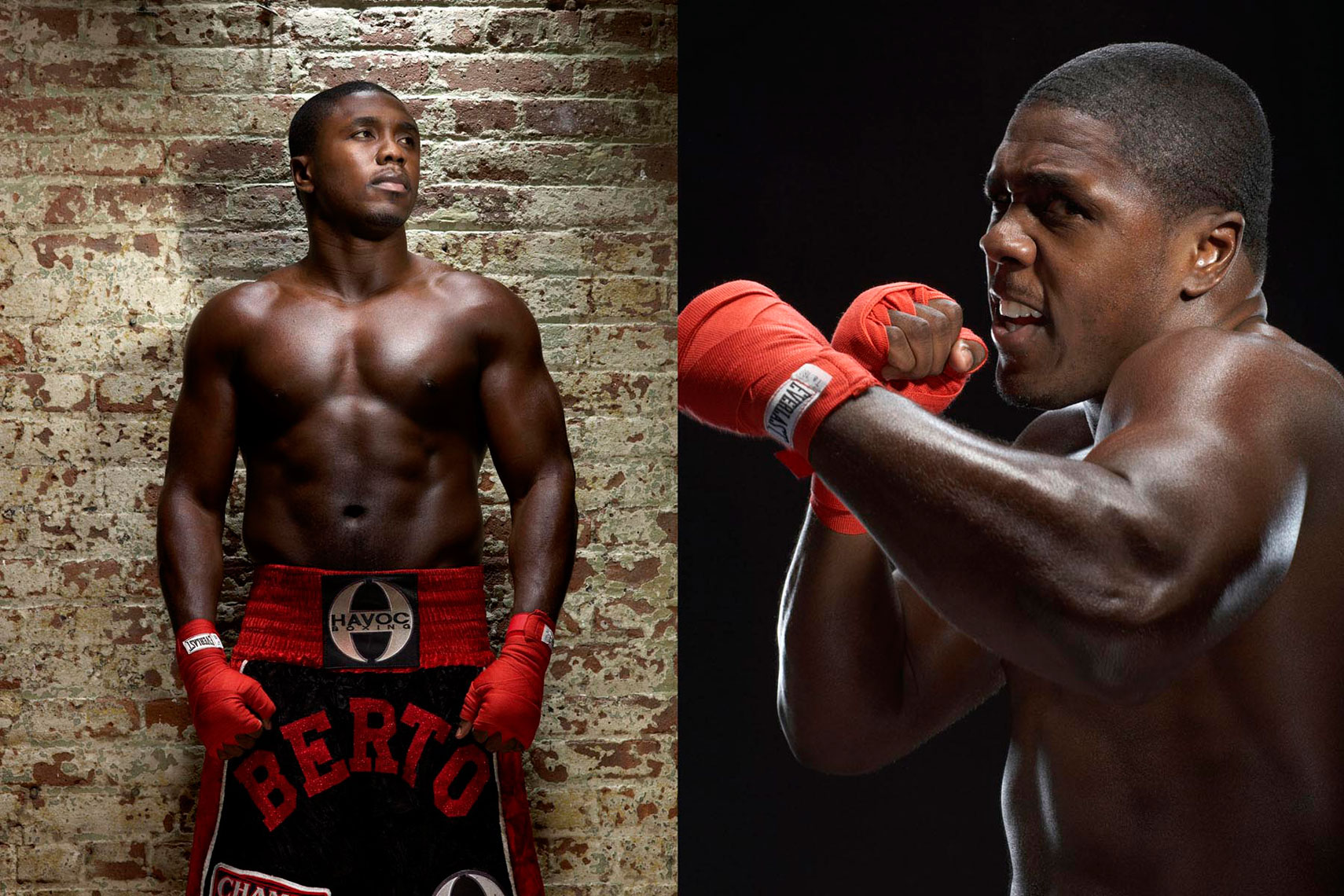 Andre Berto portrait for HBO boxing photo by Monte Isom